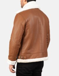 Mens-Francis-B-3-Brown-Leather-Bomber-Jacket-5