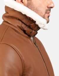 Mens-Francis-B-3-Brown-Leather-Bomber-Jacket-6