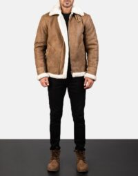 Mens-Francis-B-3-Distressed-Brown-Leather-Bomber-Jacket-2