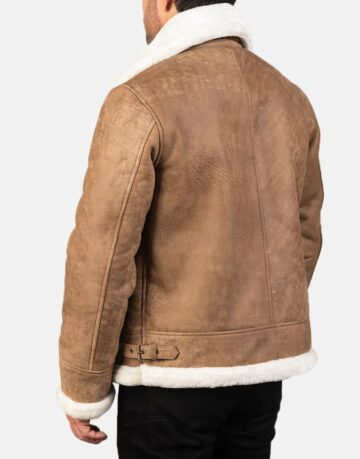 Mens-Francis-B-3-Distressed-Brown-Leather-Bomber-Jacket