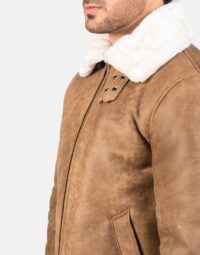 Mens-Francis-B-3-Distressed-Brown-Leather-Bomber-Jacket-6
