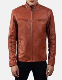 Mens-Ionic-Tan-Brown-Leather-Jacket-1
