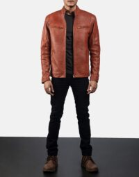 Mens-Ionic-Tan-Brown-Leather-Jacket-2