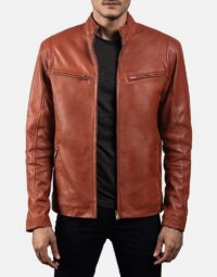 Mens-Ionic-Tan-Brown-Leather-Jacket-4