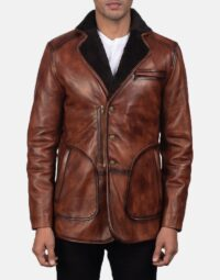 Rocky Brown Fur Leather Coat 3
