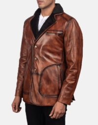 Rocky Brown Fur Leather Coat 4