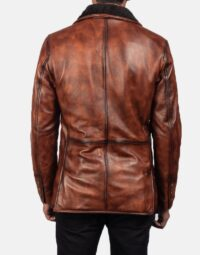 Rocky Brown Fur Leather Coat 5