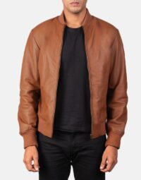 Shane Brown Leather Bomber Jacket 1