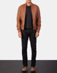 Shane Brown Leather Bomber Jacket 2