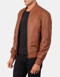 Shane Brown Leather Bomber Jacket 3