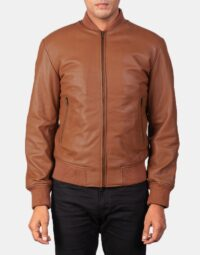 Shane Brown Leather Bomber Jacket 4
