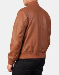 Shane Brown Leather Bomber Jacket 5