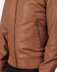 Shane Brown Leather Bomber Jacket 6