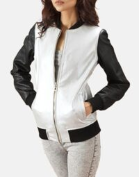 Silver-and-Black-Bomber-Jacket-Zoom-6