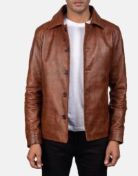 Waffle-Brown-Leather-Jacket-for-men-1