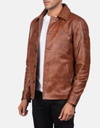 Waffle-Brown-Leather-Jacket-for-men-3