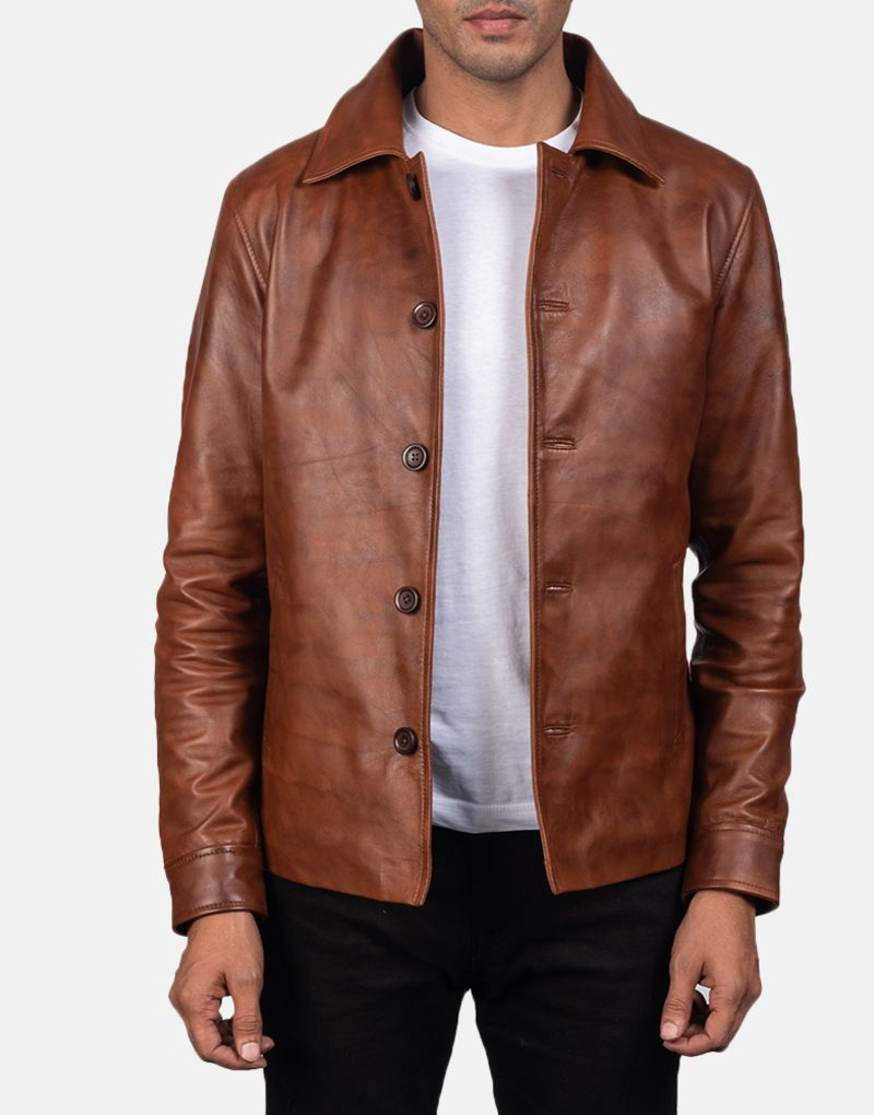 Waffle-Brown-Leather-Jacket-for-men