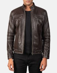 Youngster Brown Leather Biker Jacket 1