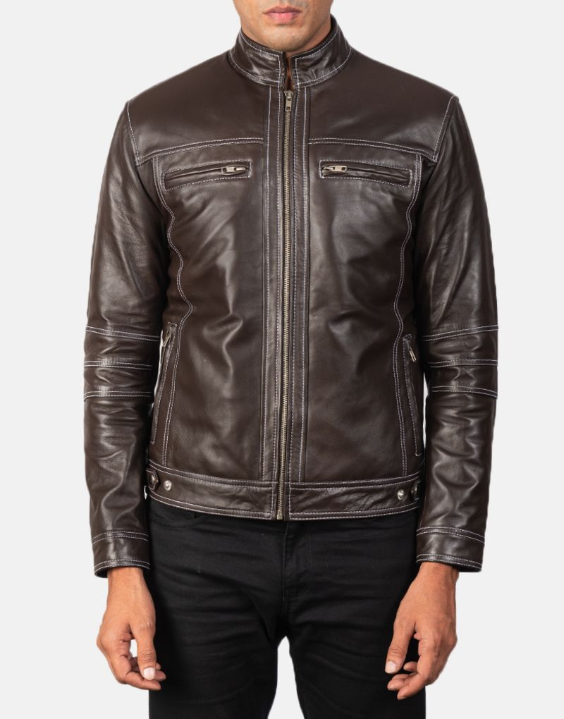 Youngster-Brown-Leather-Biker-Jacket