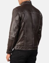 Youngster Brown Leather Biker Jacket 5