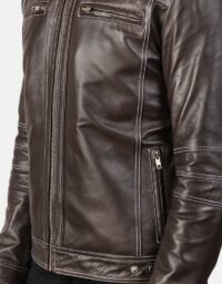 Youngster Brown Leather Biker Jacket 6